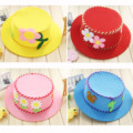 5PCS/LOT 25.5*8CM 70G Red Orange Blue Yellow Pink DIY Non-woven Hat Children Handmade Material Kit For Cap Kids Educational Toys
