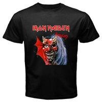 T Shirts Short Gildan O Neck Short Sleeve Iron Maiden Purgatory Hard Metal Rock Band Regular