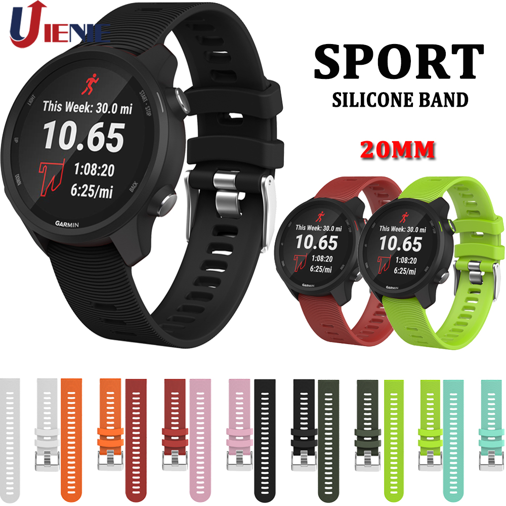 For Garmin Forerunner 245 245M 645 Vivoactive3 Silicone Watch Band Strap For Samsung Gear S2 Sport Galaxy Watch Active 2/ 42mm