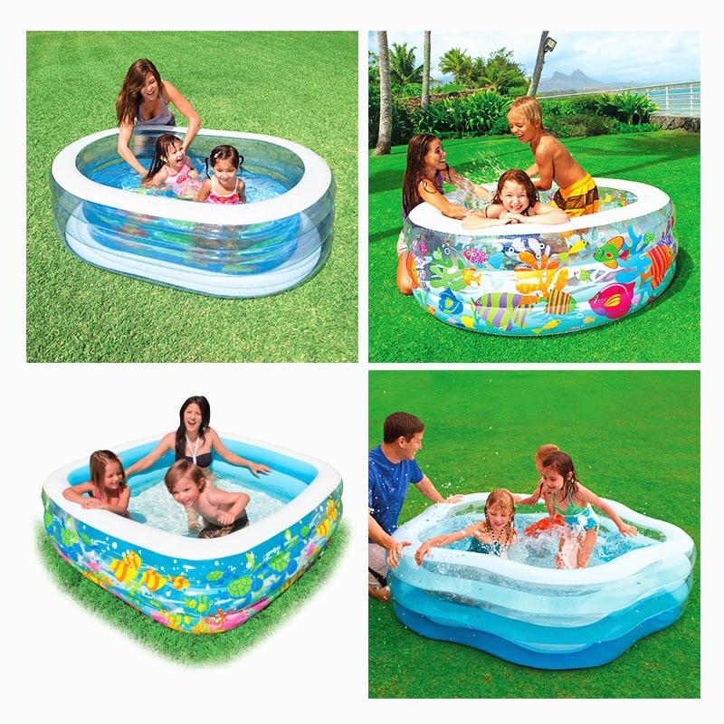 Высокое качество Детские Бассейны надувной бассейн домашний сад Семья Бассейны детей, водные игры для взрослых детский бассейн C01