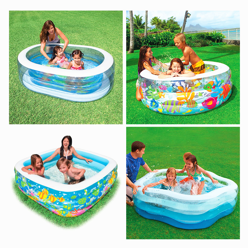 High Quality Baby Swimming Pool Inflatable Pool Home Garden Family Swimming Pool Children Water Game Playing Adult Baby Pool C01 environmentally friendly pvc inflatable shell water floating row of a variety of swimming pearl shell swimming ring