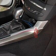 Carro de alta qualidade ABS Chrome tampa do painel de engrenagem modificado lantejoulas guarnição 2 ps para Peugeot 408 308 S acessórios