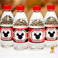 24pcs Mickey mouse water bottle label candy bar decoration kids birthday party supplies baby shower party favor AW-0604