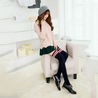 2017 New Arrive 1pair Hot Sell Women Sexy Cotton Over The Knee Thigh High Black Stockings 6 colors Cute Lovely Girl for dress