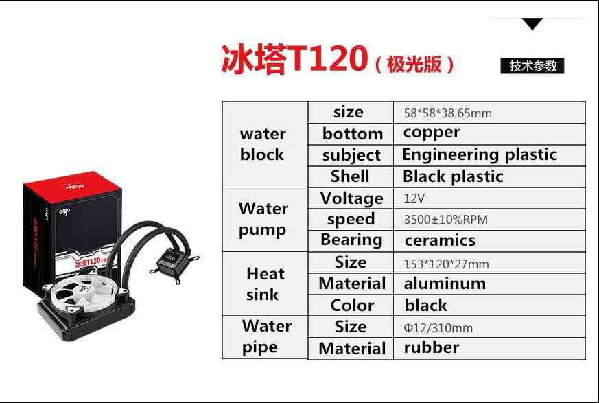 DarkFlash 愛国者 PC ケース水冷コンピュータ CPU ファン T120/240 水クーラーヒートシンク統合水冷ラジエーターインテル /AMD