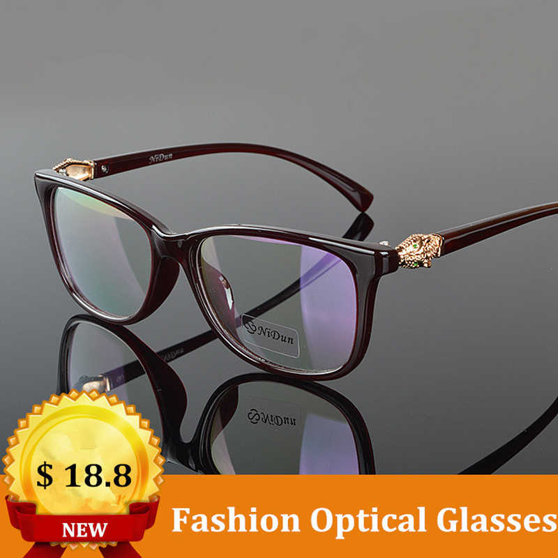 85f6e5a819 Chashma Brand Quality Eye Glasses Women Leopard Head Prescription Glasses  with Clear Lenses Female Optical Eyewear