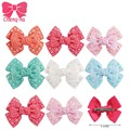 "3pcs 3.5"" Boutique Full Rhinestone Hair Bow For Dance Party Baby Girls Crystal Bling Bling Hair Clip For infantHair Accessories"
