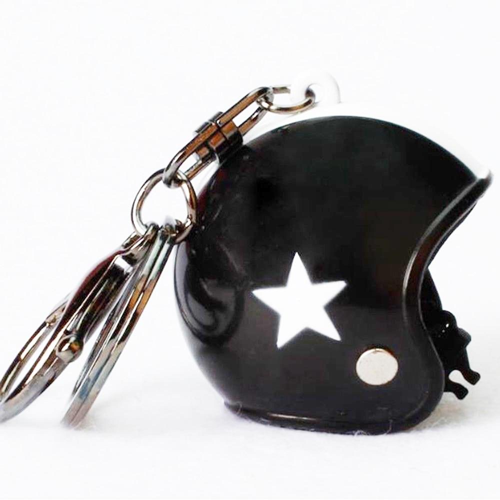 VEHEMO шлем 4,5*4,2 см автомобильные ключи Висячие капли брелок аксессуары Ювелирные наборы автомобильные запчасти - Название цвета: black white