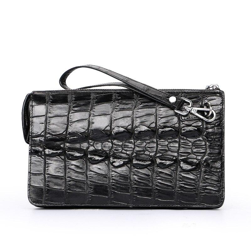 Модные натуральной крокодиловой кожи Для мужчин клатч роскошные Сумки человек аллигатора сумки дизайнер из натуральной кожи кошельки и Су