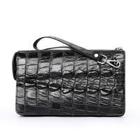 Fashion Real Crocodile Leather Men Clutch Bags Luxury Handbags Man Alligator Bags Designer Genuine Leather Purses and Handbags