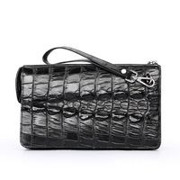 Fashion Real Crocodile Leather Men Clutch Bags Luxury Handbags Man Alligator Bags Designer Genuine Leather Purses and Handbags