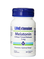 Free shipping melatonin 6 hour timed release 3 mg 60 pcs