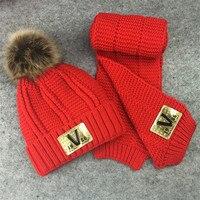 Korean Girls Warm Winter Hat Children With Cashmere Wool Hat Two Piece Baby Hat Cap Ear