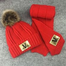 1-13 T Garçons filles chaud de fourrure polaire chapeau d'hiver enfants enfants Cap + écharpe 2 pcs set l'âge 1 2 3 4 5 6 7 8 9 10 11 12 13 ans