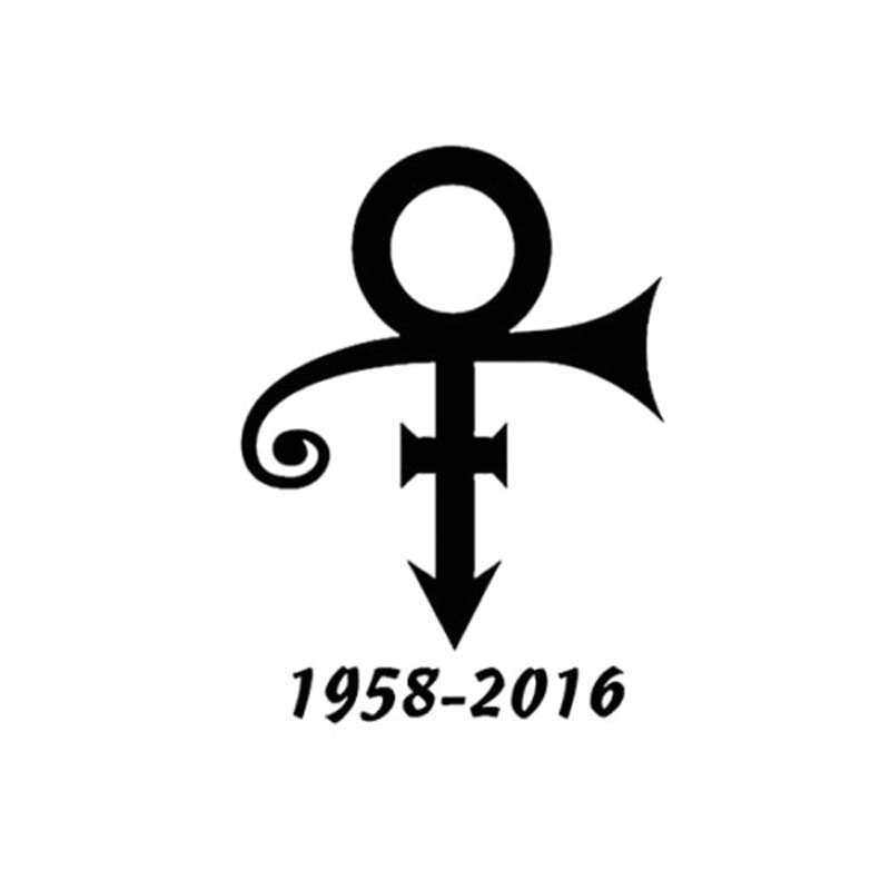 15x11.1cm 1958 2016 prince symbol music musician decal vinyl car