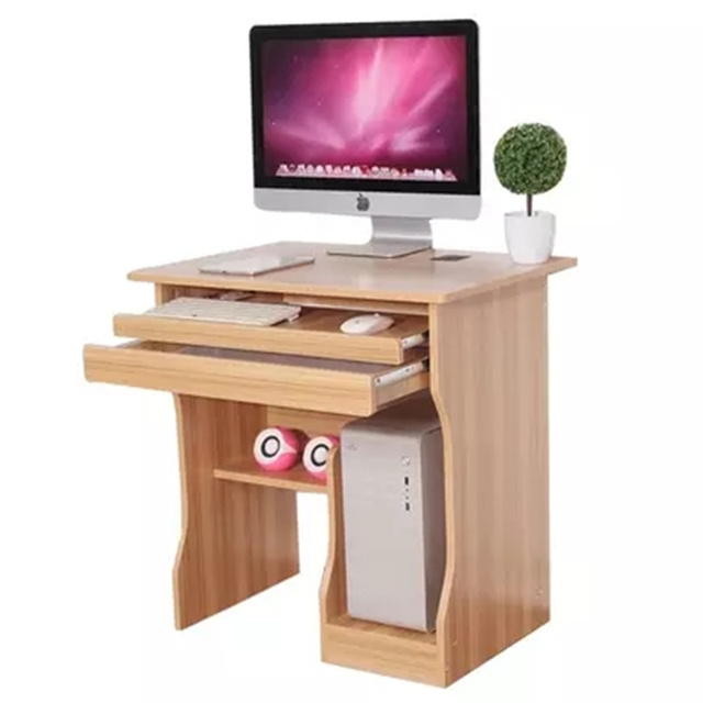 1pc Computer Pc Laptop Table With Drawer Office Workstation Corner Home Study Furniture