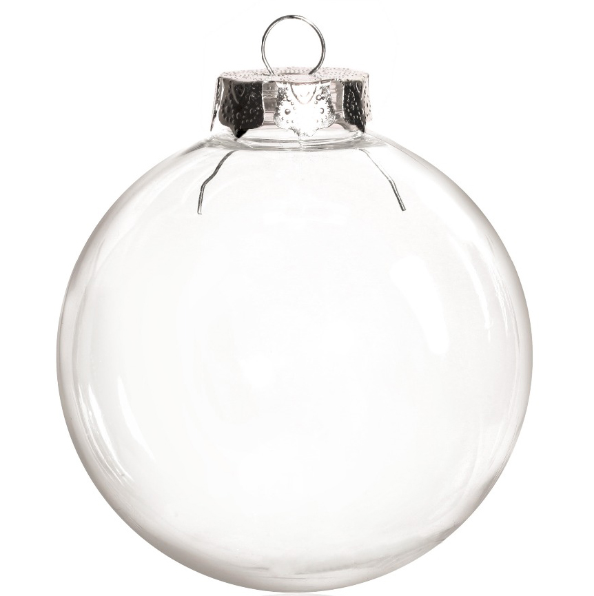 Free Shipping DIY Paintable/Shatterproof Clear Christmas Decoration, Silver Cap Plastic Ball, 100/Pack