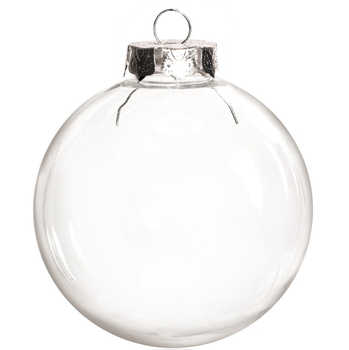 Free Shipping DIY Paintable/Shatterproof Clear Christmas Decoration, Silver Cap Plastic Ball, 100/Pack - DISCOUNT ITEM  0% OFF All Category