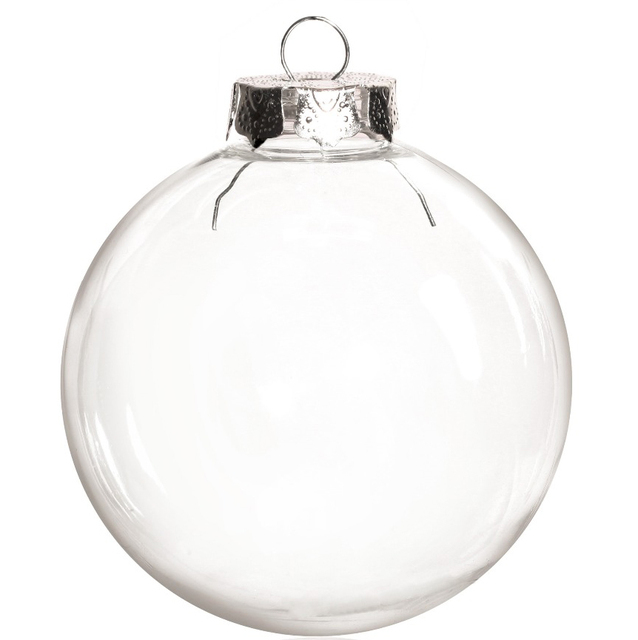 Free Shipping DIY Paintable/Shatterproof Clear Christmas Decoration, Silver  Cap Plastic Ball, 100 - Free Shipping DIY Paintable/Shatterproof Clear Christmas Decoration