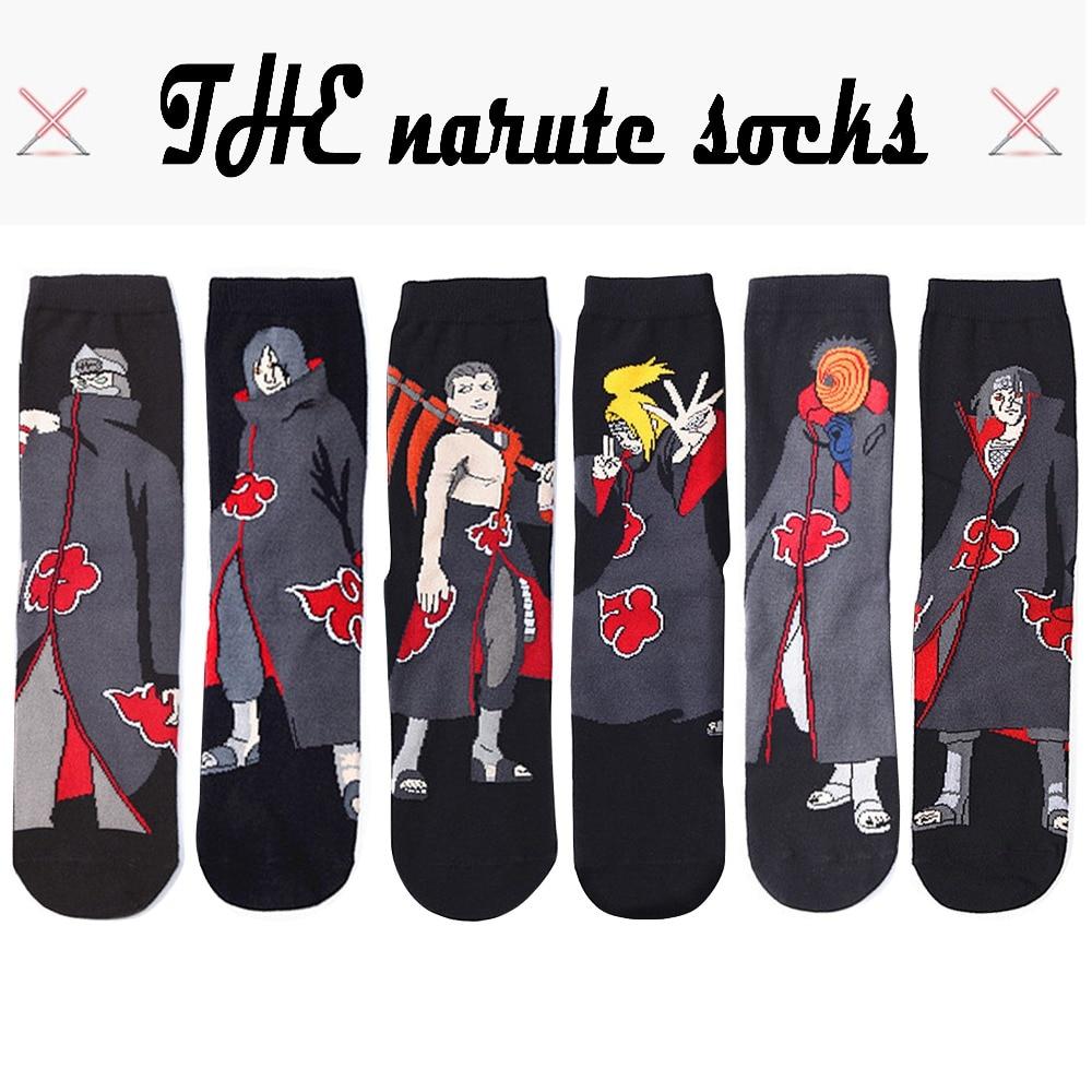 Anime Naruto Series Cosplay Socks Naruto Cotton Cartoon Socks Personality Tide Socks Men Calcetines Casual Funny Sock Meias Sox