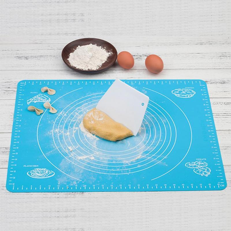 Non-Stick Silicone Baking Mat Fondant Ice Cake Dough Kitchen Tool top Super