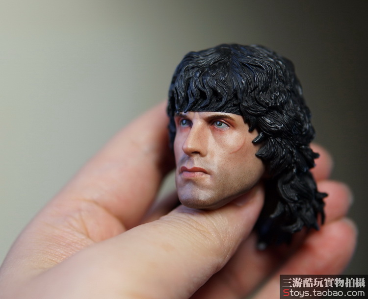 """1//6th First Blood Sylvest Stallone Rambo HeadSculpt Model For 12/"""" Male Figure"""