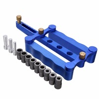 1Set Self Centering Dowelling Jig Kit Metric Woodworking Dowel Drilling Guide Dowel Tool 6 8 10mm