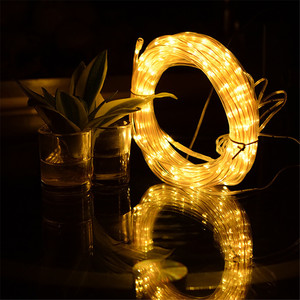 Image 2 - 10 m led 태양 강화한 끈 요정 빛 구리 철사 관 빛 정원 거리 집 나무를위한 옥외 장식적인 휴일 점화