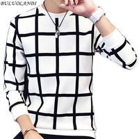 Men S Hoodies 2016 Autumn New Men S Casual Fashion Plaid Hoodies Plus Size Code M