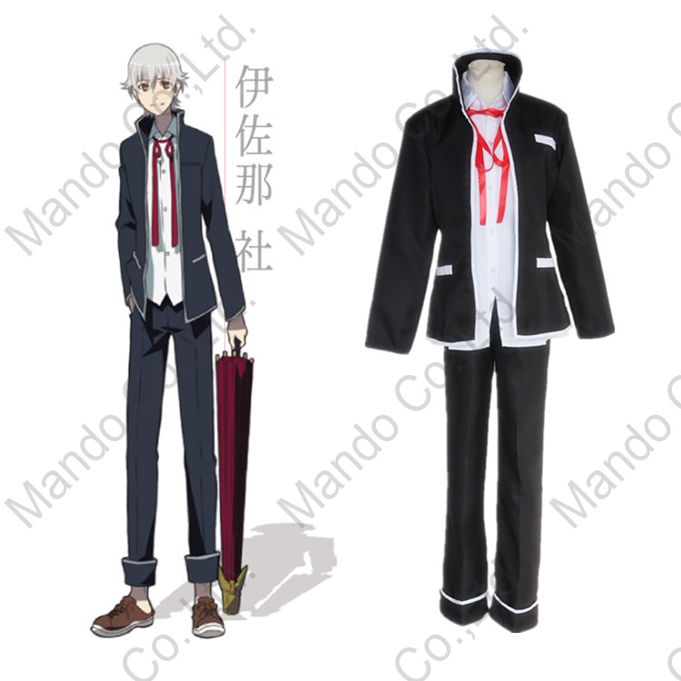 Japanese Anime K RETURN OF KINGS Isana Yashiro Cosplay Costumes Halloween Party Black Suits Carnival 3pcs suit set
