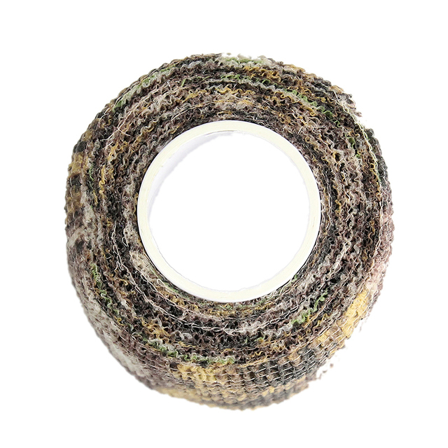 4pcs/lot Elastic Stealth Tape Hunting Military Camouflage Tape Airsoft Paintball Gun Rifle Shooting Stretch Bandage Camo Tape 5