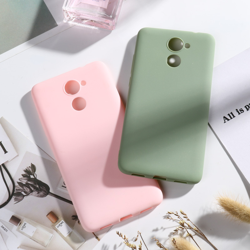 Candy Color Case for Huawei Y7 2017 Cases For Prime Cover Soft TPU Covers Y 7 Phone