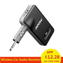 Mpow B129 Wireless Audio Adapter Bluetooth 4.1 Receiver Car Kit with 3.5mm Aux/jack Stereo Output For Car Home Speaker Headphone