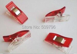 Image 5 - 5000 قطع الأحمر PVC مقاطع بلاستيكية ل خليط الخياطة DIY الحرف ، لحاف اللحف كليب البرسيم عجب كليب 2.7*1 سنتيمتر