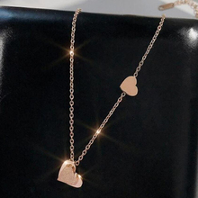 Fashion heart necklace good quality color-preserving electroplating titanium steel women pendant