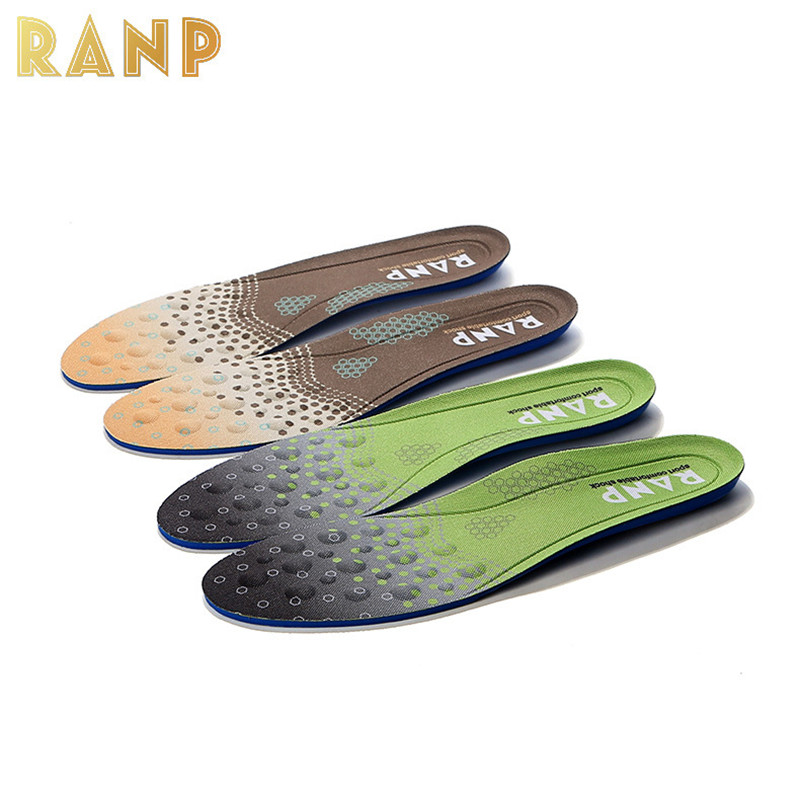 New Fashion Sport Massage Orthopedic Flat Foot Care Insole Orthotic Arch Support Silicone Gel Shock Absorber Soles For Men Women