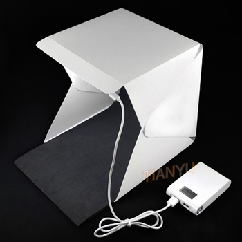 20*20cm 30*30cm 40*40cm Mini Folding Studio Diffuse Soft Box Lightbox With LED Light Black White Photography Background Photo
