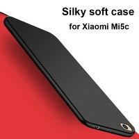 For Xiaomi Mi5c Case Soft Silicone Back Cover Silky Skin Matte Slim Fundas For Xiaomi Mi 5c Phone Cases
