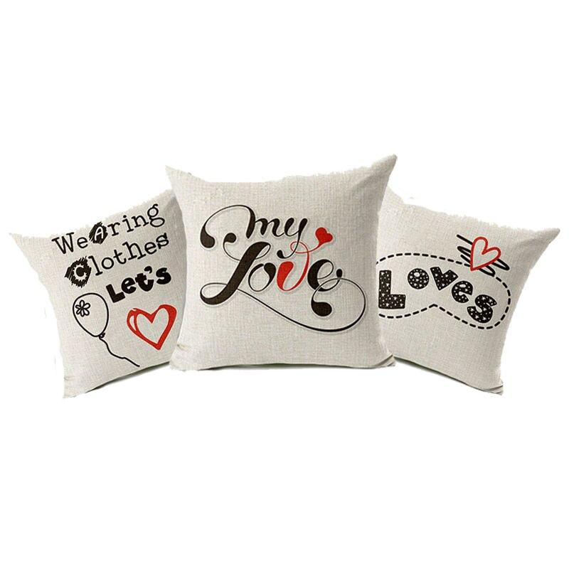 ᑎ‰Nórdico familia carta amor Fundas de colchón algodón silla sofá ...