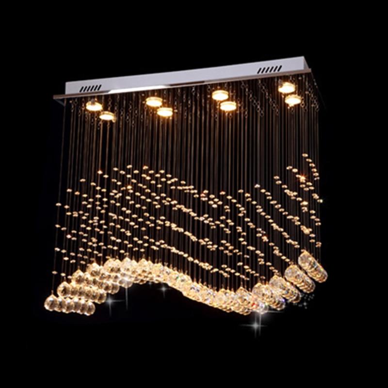 Moderne LED K9 Kristall Kronleuchter Wohnzimmer Schlafzimmer welle ...