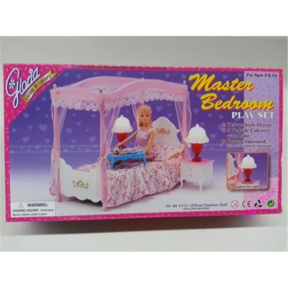 barbie slaapkamer pink kids bjd doll house bedroom