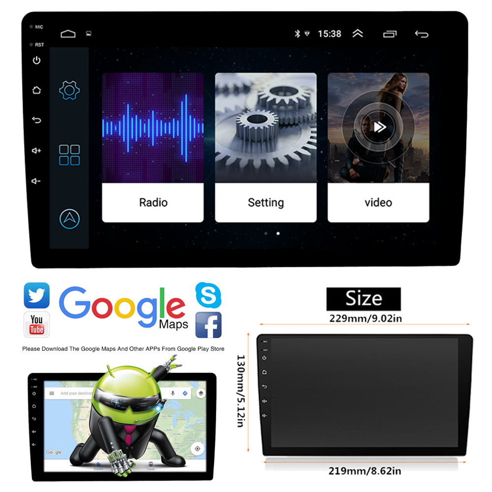 2 Din Android 8.1 Bluetooth Touchscreen Car Radio 10 Universal Car Multimedia Video Player GPS Navigation FM USB  Mirror Link2 Din Android 8.1 Bluetooth Touchscreen Car Radio 10 Universal Car Multimedia Video Player GPS Navigation FM USB  Mirror Link