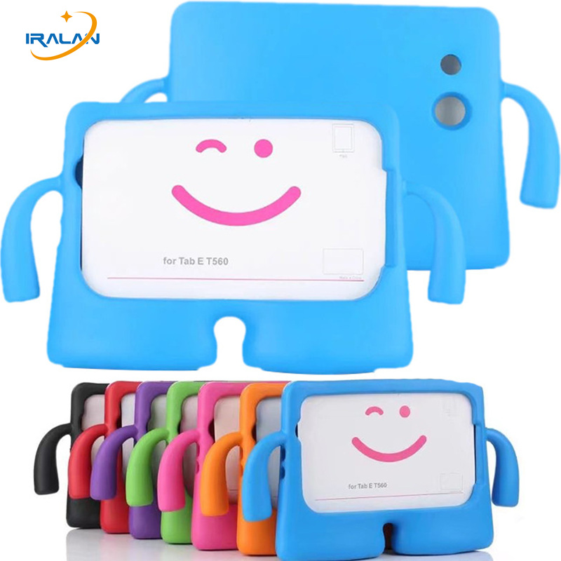 New Kids Cute Cartoon For for samsung galaxy tab E 9.6 T560 T561 Case EVA Safe Soft Children portable stand handle Cover 3 in 1 thick eva foam kids children safe rugged proof foam case handle stand for galaxy tab e 9 6 t560 kids shockproof tablet case