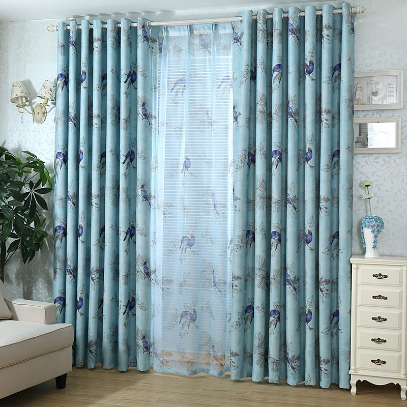 Aliexpress.com : Buy Vintage Birds Print Country Curtains For Living Room  Bedroom Decorative Kitchen Curtains Drapes Window Treatments Rustic Style  From ... Part 50