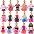 NK 10 Set/Lot  Mix Style Newest Doll Dress Beautiful Party Clothes Top Fashion Dress For Barbie Doll Best Girls' Gift Baby Toys