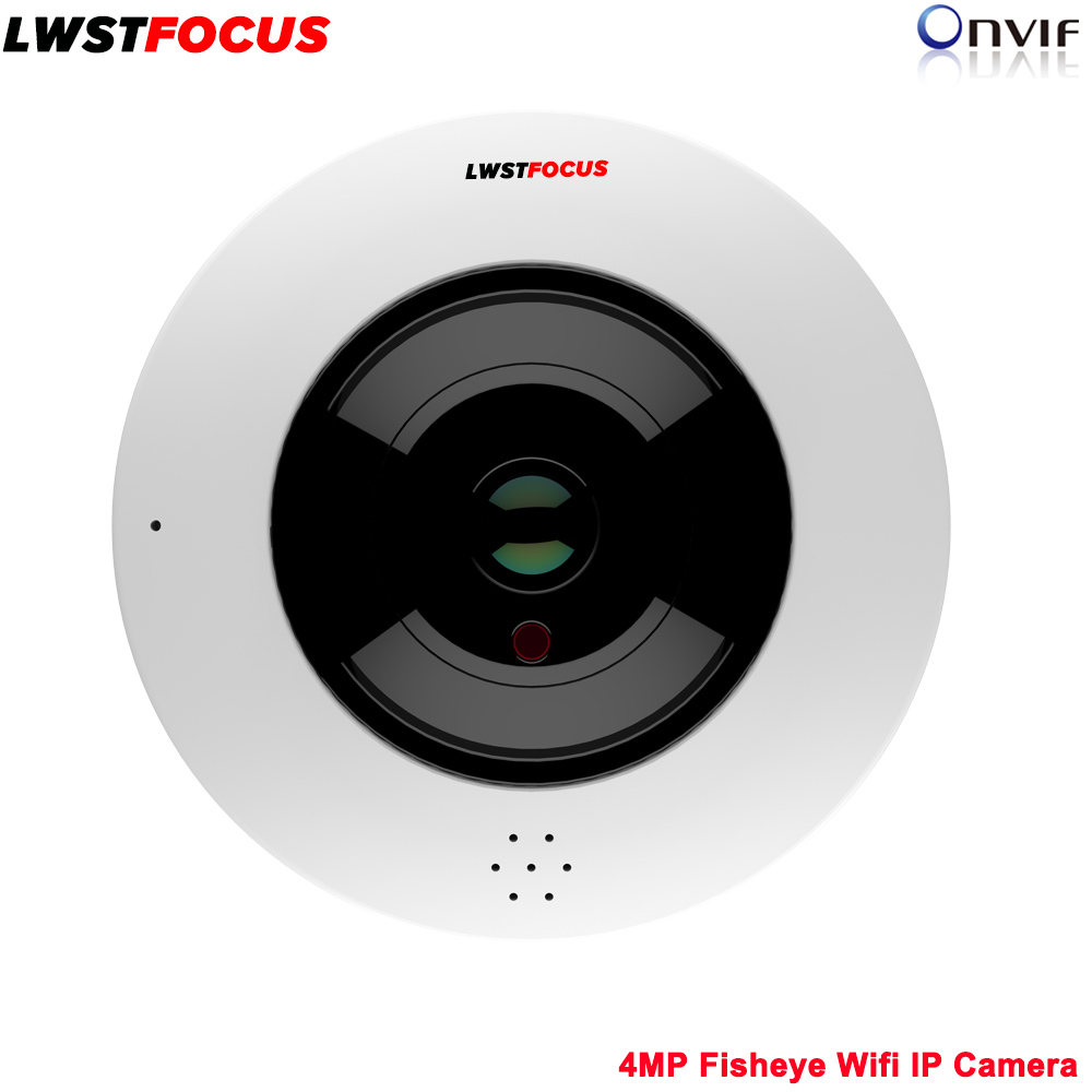 4MP Panorama POE WIFI Fisheye IP Camera built-in MIC SD Card Slot Audio Alarm Interface 360 Degree Wide Angle Nightvision CCTV