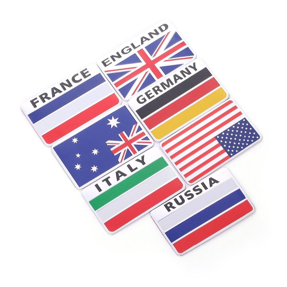 Carte Russie Australie.0 89 18 De Reduction 3d Aluminium Italie Allemagne France Russie Australie Etats Unis Carte Drapeau National Voiture Autocollant Voiture Style