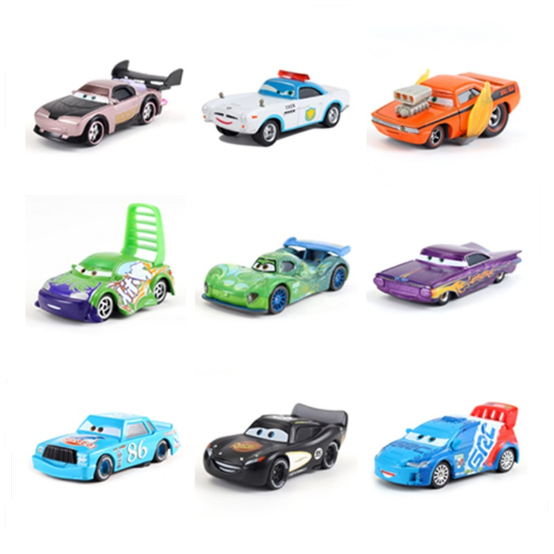 Disney Pixar Car 3 Toy Car Shop McQueen 1:55 Die-cast Metal Alloy Model Toy Car 2 Boys Birthday Gift Christmas Gift