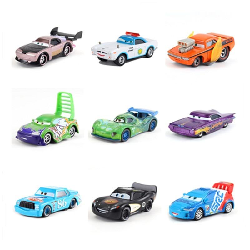 Disney Pixar Car 3 Toy Car Shop McQueen 1:55 Die-cast Metal Alloy Model Toy Car 2 Boys Birthday Gift Christmas Gift