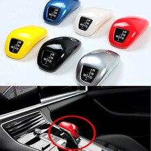 цена на For Porsche Cayenne 2018 2019  Auto Car Accessories Gear Head Shift Knob Cover Gear Shift Collars Handbrake Grip